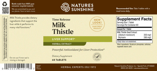 Milk Thistle Time Release (60 tabs)