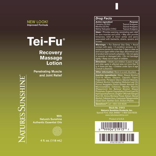 Tei-Fu® Recovery Massage Lotion (4 Oz)