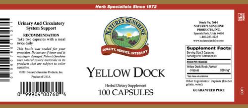 Yellow Dock (100 caps)