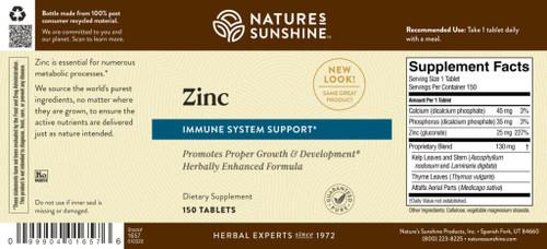 Zinc (25 mg) (150 tabs)