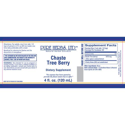 Pure Herbs, Ltd.  Chaste Tree  Berry (4 oz.)