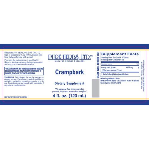 Pure Herbs, Ltd.  Crampbark (4 oz.)