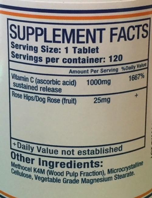 Pure Herbs, Ltd.  Vitamin C Tablets (120 tablets)