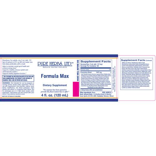 Pure Herbs, Ltd.  Formula Max (4 oz.)