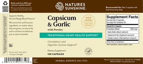 Capsicum & Garlic w/ Parsley (100 caps)