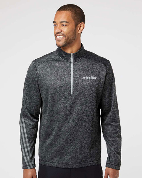 Brushed Terry Heathered Quarter-Zip Pullover
