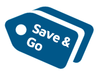 Save and Go icon