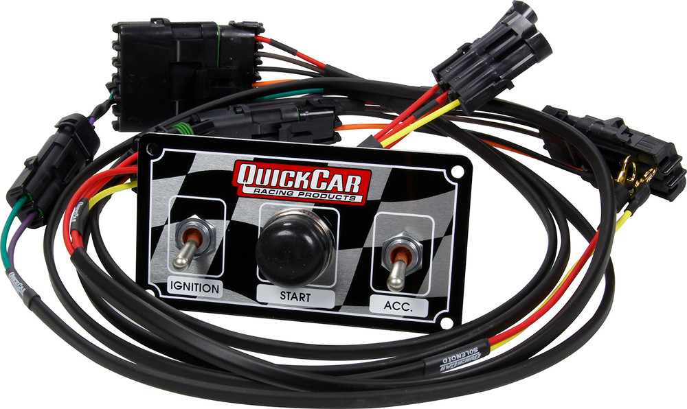 Wiring Harness - Ignition - Weatherpack Style - Switch Panel Included - 2 Toggles/1 Momentary Push Button - UMP/IMCA Style Modifieds - Kit