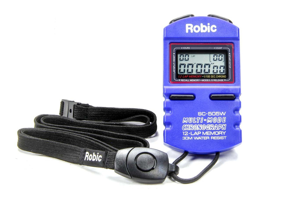 51-040 Stopwatch Blue 12 Lap Memory Quickcar Racing Products