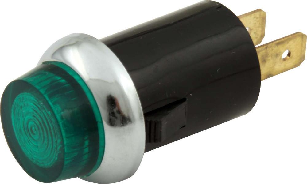Warning Light - 12V - 3/4 in Diameter - Green - Quickcar Gauge/Switch Panels - Each