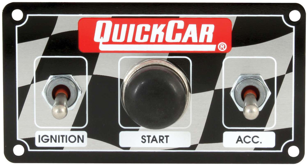 50-020  -  Switch Panel - Dash Mount - 4-5/8 in x 2-1/2 in - 2 Toggles/1 Momentary Push Button - Aluminum - Each