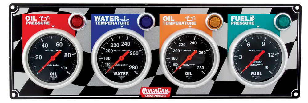 61-0301 4 Gauge Panel Quickcar Racing Products