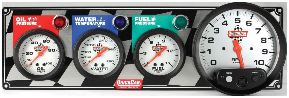 61-6042 3-1 Gauge Panel w/Tach Quickcar Racing Products
