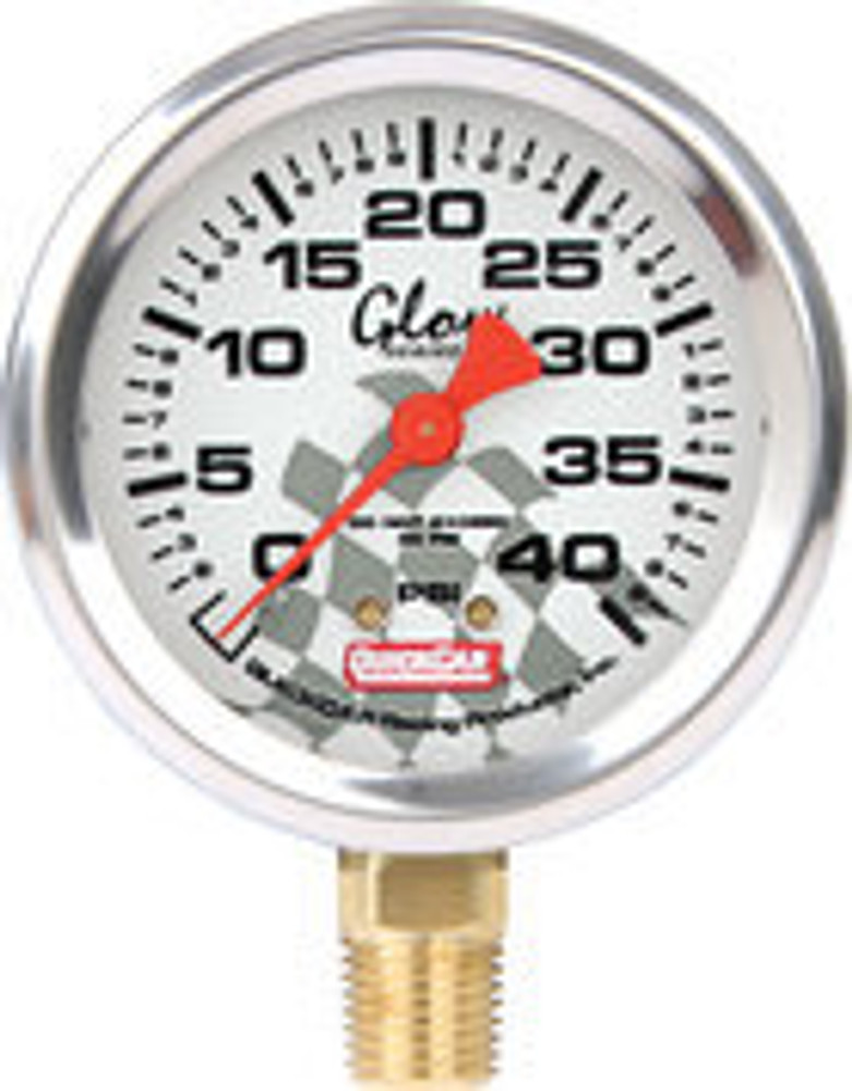 56-0042 - Tire Pressure Gauge Head - 0-40 psi - Glo - Quickcar Tire Pressure Gauges - Each
