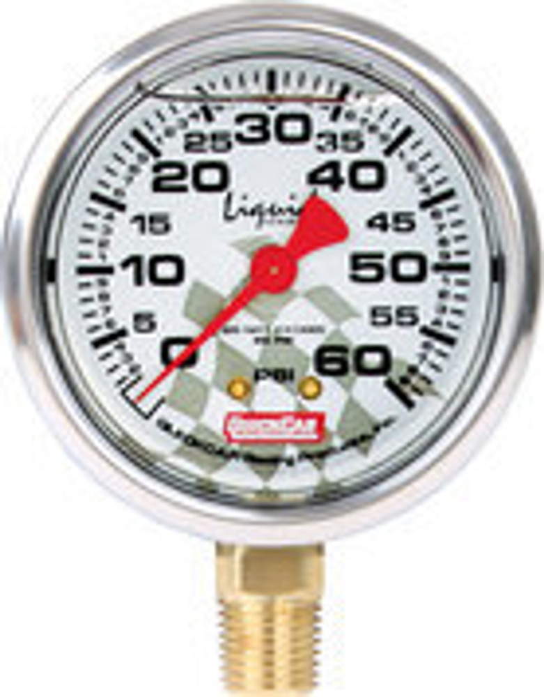 56-0061 - Tire Pressure Gauge Head - Liquid Filled - 0-60 psi - Quickcar Tire Pressure Gauges - Each