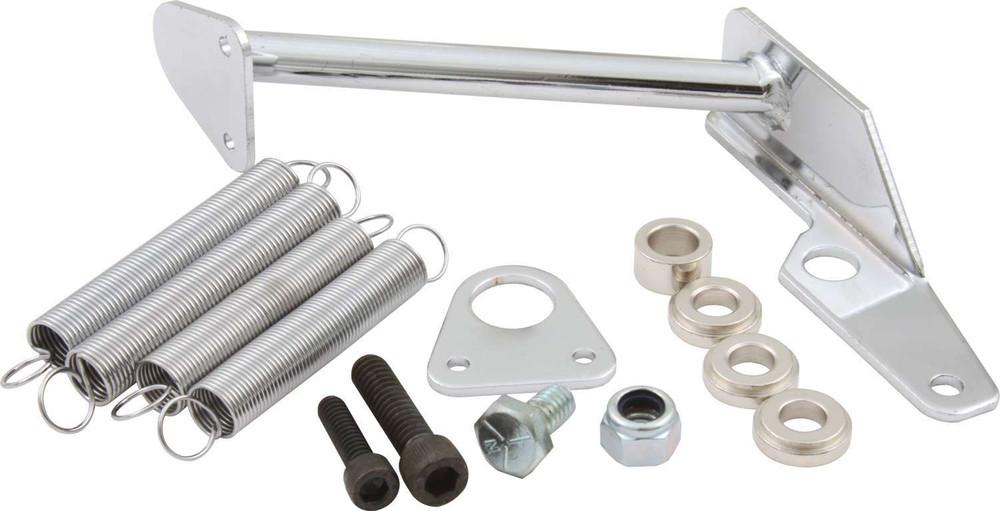 65-096 - Throttle Return Spring Kit - Carburetor Mount - Steel - Chrome - Square Bore/Holley 2300 Carburetors - Kit