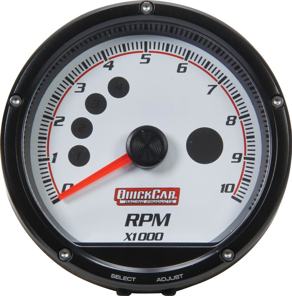 redline recall tachometer white by quickcar Ford EFI Tachometer Wiring 63 001 gauge tachometer redline 0 10,000 rpm 3