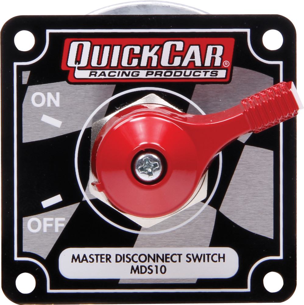 55-008 Master Disconnect High Amp 4 Post Flag Plate Quickcar Racing Products