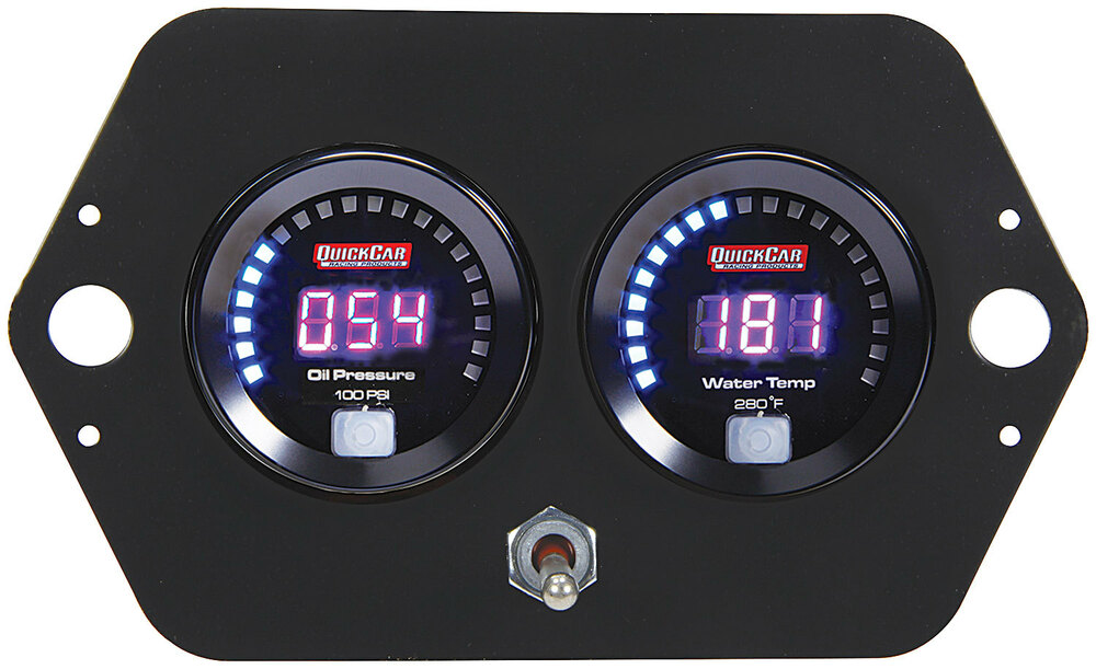 Quickcar Dual Gauge Open Wheel Panel With Battery Switch
