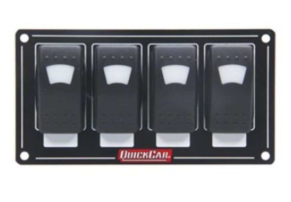 52-717 Accessory Panel 4 Switch Rocker Lighted Quickcar Racing Products