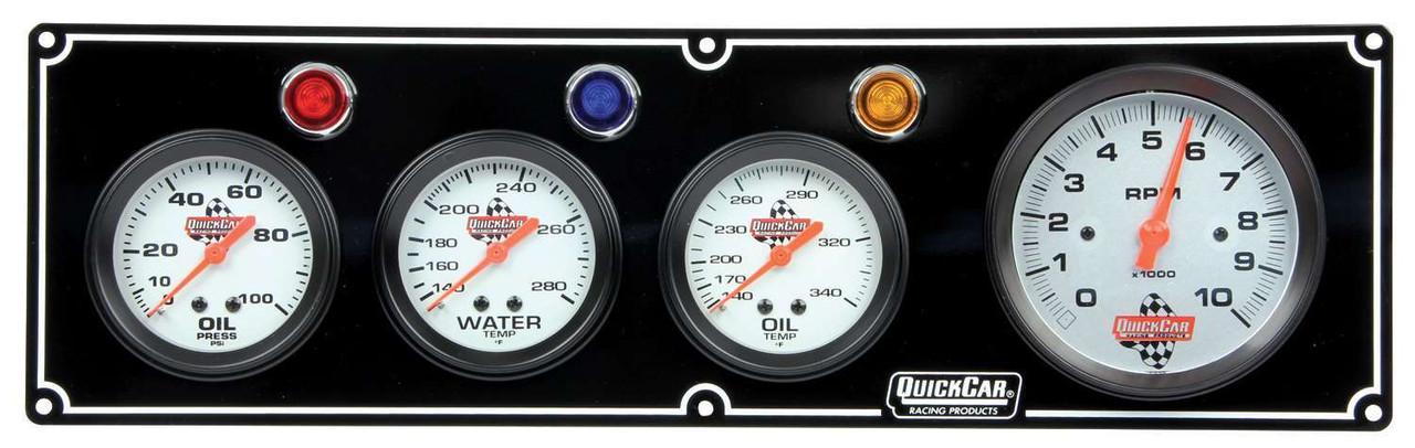 QUICKCAR RACING PRODUCTS 61-6042 3-1 GAUGE PANEL