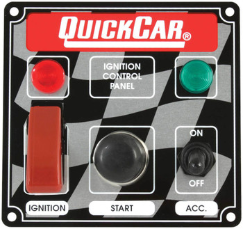 50-023 Ign. Panel 2 Switch w/ Lights Quickcar Racing Products
