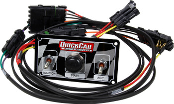 Modified Single Ignition Harness w/ Checkered Switch Panel  50-2030 Quickcar Racing Products
