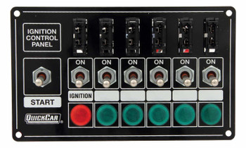 50-7164 Ignition Panel Extreme Fused w/ Lights Quickcar Racing Products