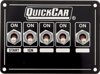 50-7731 Ignition Panel Single Ignition w/ Acc Switches Quickcar Racing Products