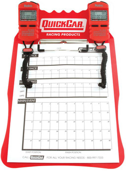 51-051 Clipboard Timing System Red Robic Stop Watches Quickcar Racing Products