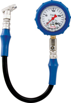 56-021 Tire Gauge 0-20 PSI Liquid Filled Quickcar Racing Products