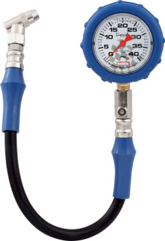 56-041 Tire Gauge 0-40 PSI Liquid Filled Quickcar Racing Products