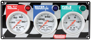 61-0281 3 Gauge Panel Ultra-Lite Quickcar Racing Products