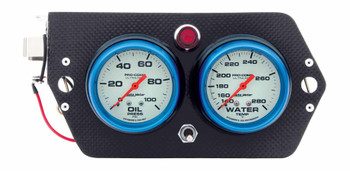 Gauge Panel Deluxe Ultra Nite Sprint Carbon 61-0705 Quickcar Racing Products