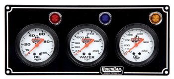 61-6711 3 Gauge Panel Black Quickcar Racing Products