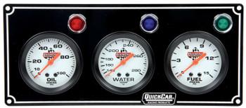 3 Gauge Panel Black 61-6712 Quickcar Racing Products