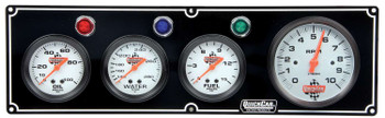 61-67423 3-1 Gauge Panel  w/ Tach Black Quickcar Racing Products