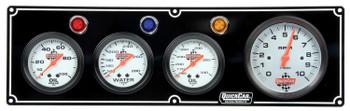 61-67413 3-1 Gauge Panel w/ Tach Black Quickcar Racing Products