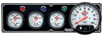 3-1 Gauge Panel w/ Tach Black 61-6742 Quickcar Racing Products