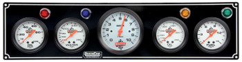 61-67513 3-1 Gauge Panel w/ Tach Black Quickcar Racing Products