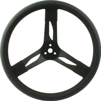 68-003 15in Steering Wheel Steel Black Quickcar Racing Products