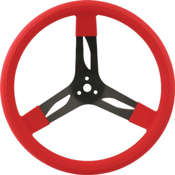 15in Steering Wheel Steel Red 68-0031 Quickcar Racing Products