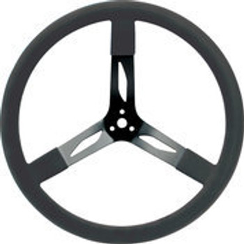 "68-004 Steel Steering Wheel 17"" Black Quickcar Racing Products"