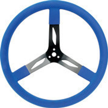 "68-0042 Steel Steering Wheel 17"" Blue Quickcar Racing Products"
