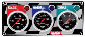 3 Gauge Panel Sport Comp. 61-0211 Quickcar Racing Products