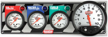 61-6042 3-1 Gauge Panel w/ Tach Quickcar Racing Products