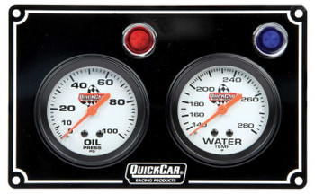 61-6701 2 Gauge Panel Black Quickcar Racing Products