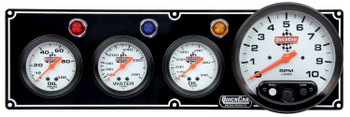 3-1 Gauge Panel w/ 5in Tach Black 61-6741 Quickcar Racing Products