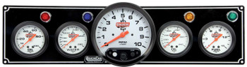 4-1 Gauge Panel w/ 5in Tach Black 61-6751 Quickcar Racing Products