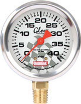 Tire Pressure Gauge Head 0-40 PSI Glow in the Dark 56-0042 Quickcar Racing Products